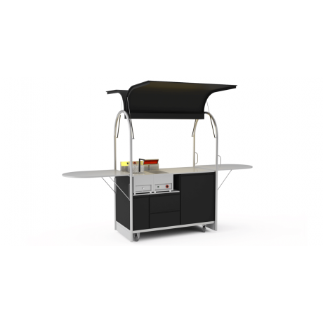 Bar mobile French fries cart 1500