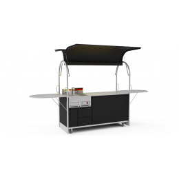 Bar mobile French fries cart 2000