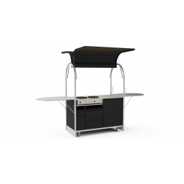 Bar mobile Crepes cart 1500