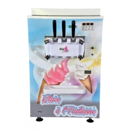 Machine à glace italienne 2 parfums