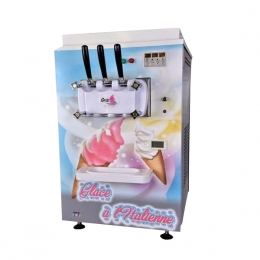Machine à glace italienne 2 parfums 450 portions/h