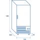 Armoire inox QRX 688FH de 600 L