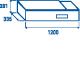 Saladette à poser VRX 12/33S/S 34L
