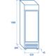 Réfrigérateur DC 350C de 350 L