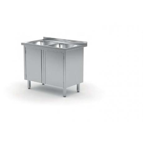 Table avec deux lavabos et meuble POL-227/228