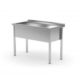 Table avec bac de lavage unique POL-205