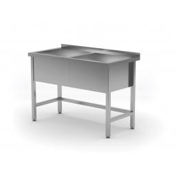 Table avec double bac de lavage POL-206