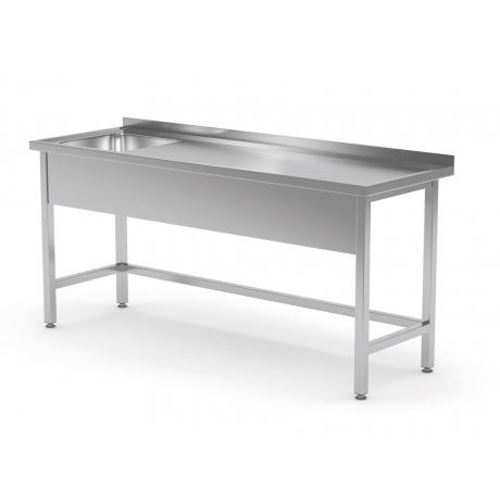 Table renforcée avec évier sans étagère POL-210