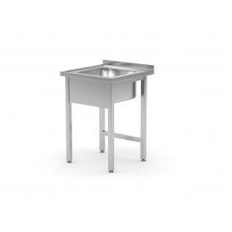 Table avec évier avec ou sans étagère POL-211/212