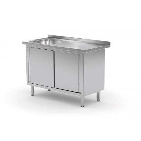 Table avec évier et armoire à portes coulissantes POL-217