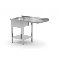 Table avec évier, sous étagère et espace pour réfrigérateur ou lave-vaisselle POL-231