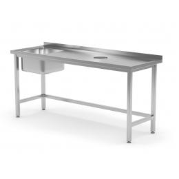 Table avec évier et trou à déchets POL-236