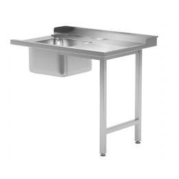 Table de chargement pour lave-vaisselle avec évier sur deux pieds POL-240