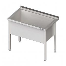 Table inox avec un bac d'évier