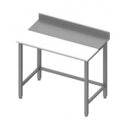 Table adossée avec panneau en polyéthylène