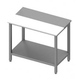 Table centrale avec panneau en polyéthylène et étagère