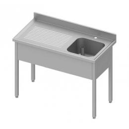 Table adossée avec cuve