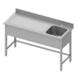 Table adossée renforcée avec cuve