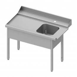Table adossée de chargement à gauche pour lave-vaisselle à capot