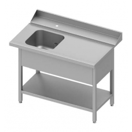 Table adossée de chargement à droite avec étagère pour lave-vaisselle à capot