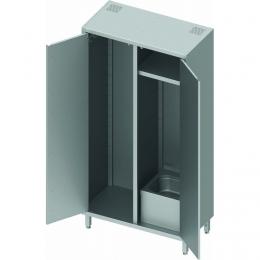 Armoire inox 2 portes avec lave-main