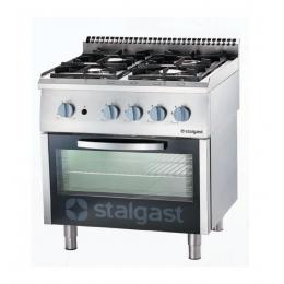 Cuisinière à gaz 4 brûleurs avec four statique