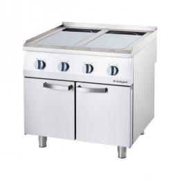 Cuisinière à induction avec 2 ou 4 champs de chauffage
