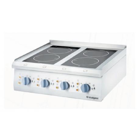 Cuisinière céramique avec 2 ou 4 champs de chauffage