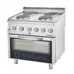 Cuisinière électrique avec 4 plaques de cuisson et four