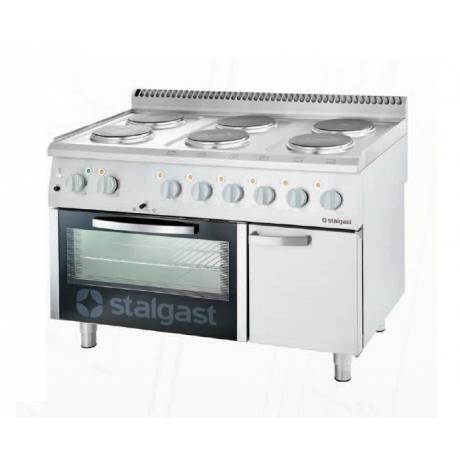 Cuisinière électrique avec 6 plaques de cuisson et four