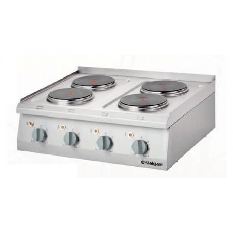 Cuisinière électrique posable avec 2 à 6 champs de chauffage