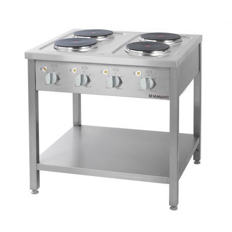 Cuisinière électrique autonome 4 à 6 brûleurs