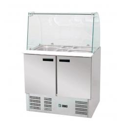 Table de réfrigération avec réhausse 201 L