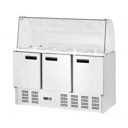Table de réfrigération avec réhausse 308 L