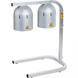 Lampe chauffante à deux éléments