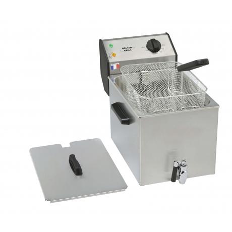 Friteuse simple à poser avec robinet de 8 ou 12 L