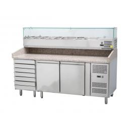 Table réfrigérée à pizza 300 L