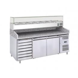 Table réfrigérée à pizza 386 L