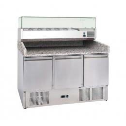 Table réfrigérée à pizza 368 L