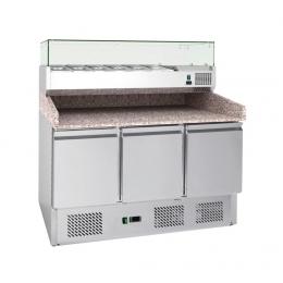 Table à pizza avec Vitrine Réfrigérée 4GN1/3+1GN1/2