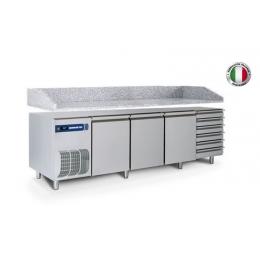Table réfrigérée positive avec plan de travail et tiroirs 600 L