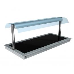 Plan de maintien en température en verre trempé avec superstructure Libra