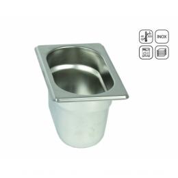 Bac GN 1/9 Eco en acier inox 176x128 mm