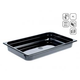 Bac GN 1/1 en polycarbonate noir premium 530x325 mm