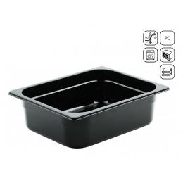 Bac GN 1/2 en polycarbonate noir premium 325x265 mm