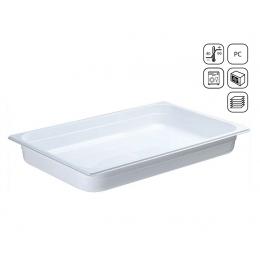 Bac GN 1/1 en polycarbonate blanc premium 530x325 mm