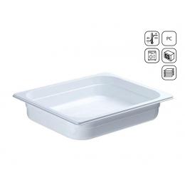Bac GN 1/2 en polycarbonate blanc premium 365x265 mm
