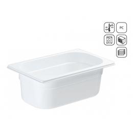 Bac GN 1/4 en polycarbonate blanc premium 265x164 mm