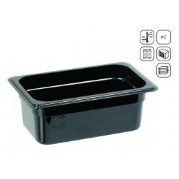 Bac GN 1/4 en polycarbonate noir standard 265x164 mm