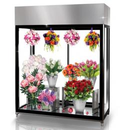 Chambre froide fleuriste de 0,98 m3 d'exposition